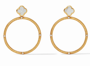 CHLOE STATEMENT EARRING GOLD MOTHER OF PEARL