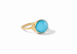 HONEY STACKING RING IRIDESCENT PACIFIC BLUE-6