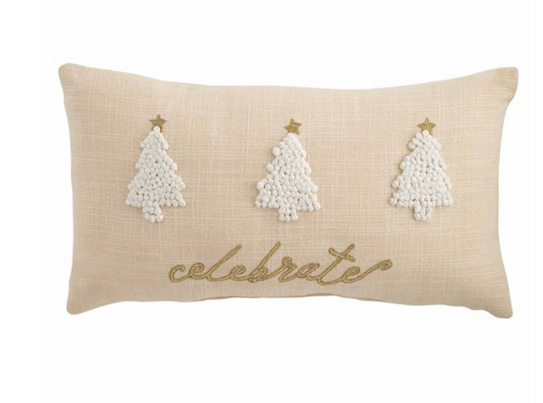 TREE GOLD FRENCH KNOT PILLOW