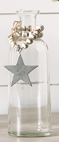 STAR BUD VASE WITH BEADS