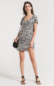THE ZEBRA DRESS CHAMPAGNE MIST S20