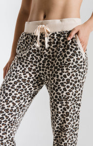 THE MULTI LEOPARD JOGGER NATURAL COMBO F19
