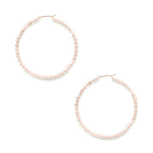 SKIN Dilan Square Bead Erika Hoop 14K and Story