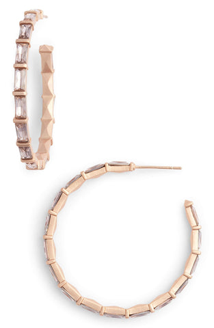 VEDA EARRINGS RSG BLUSH CRYSTAL