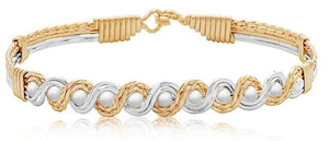 HEAD OVER HEELS 14K/S GOLD/SILVER  BRACELET