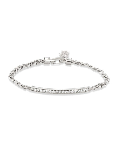 ADDISON FRIENDSHIP BRACELET RHODIUM METAL