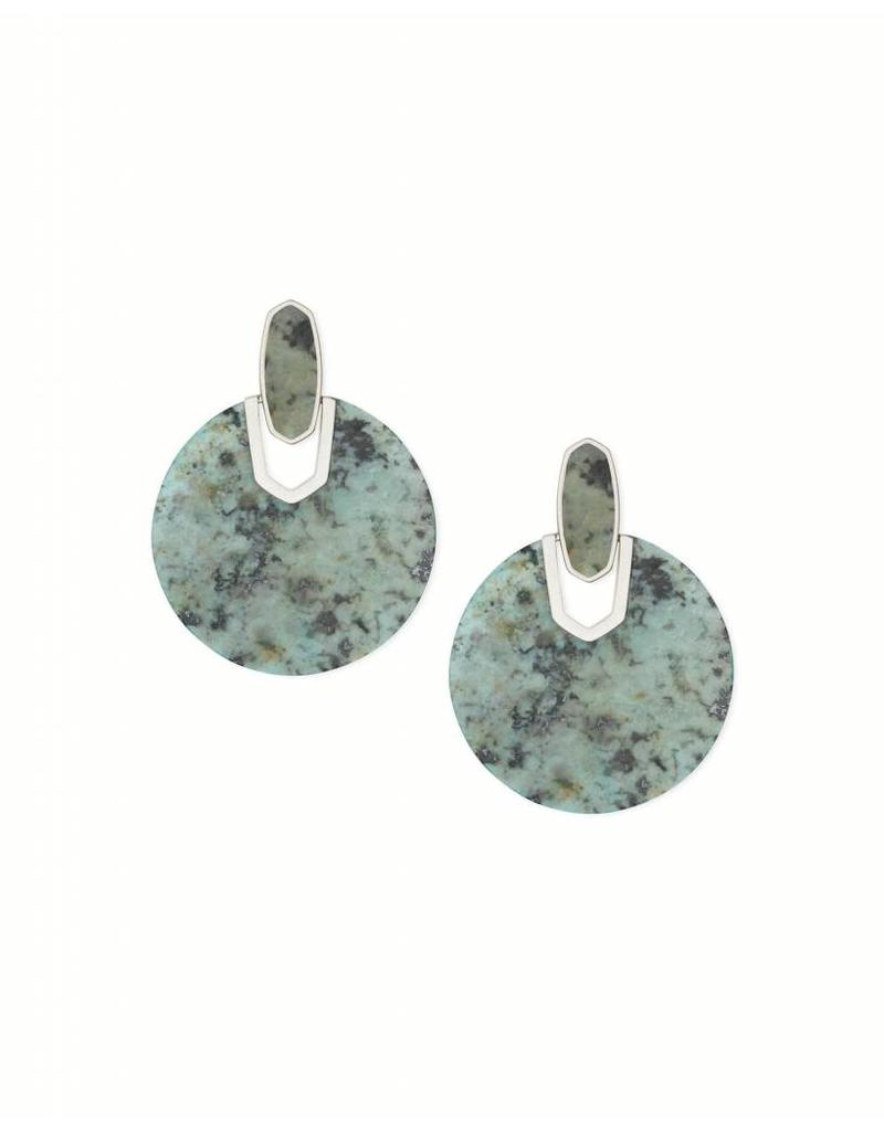 DIDI SILVER AFRICAN TURQUOISE EARRINGS