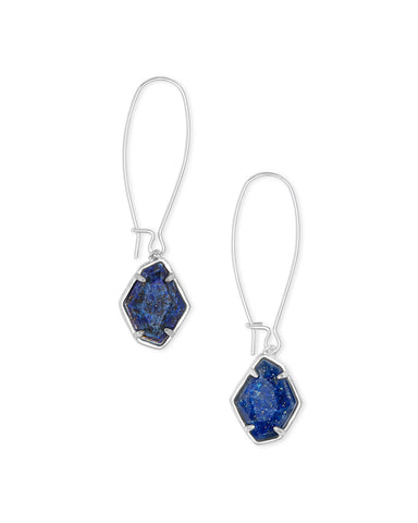 ELLINGTON DROP  BRIGHT SILVER LAPIS