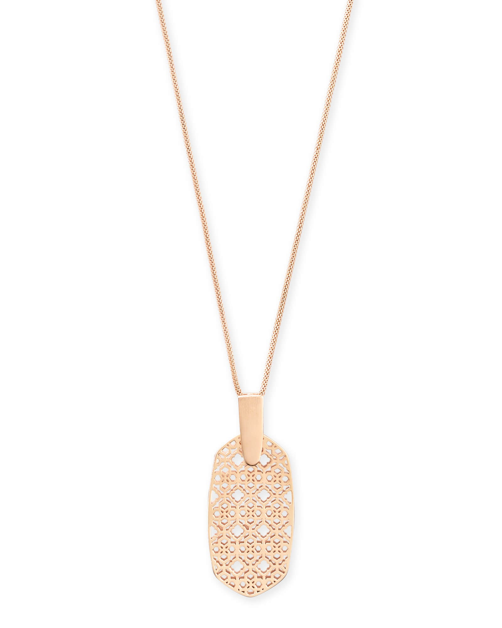 INEZ ROSE GOLD FILIGREE NECKLACE