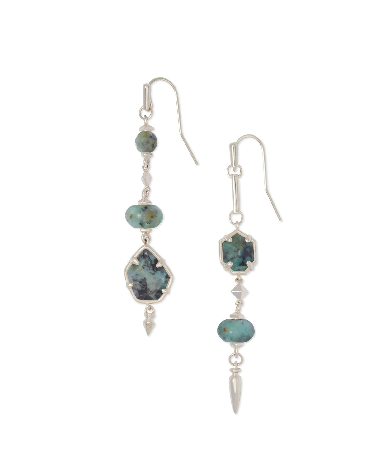 RHYS SILVER AFRICAN TURQUOISE EARRINGS