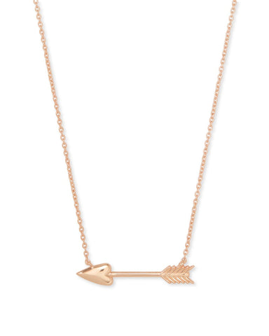 ZOEY PENDANT NECKLACE ROSE GOLD METAL