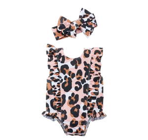 LEOPARD SWIMSUIT AND HB 6 MONTHS