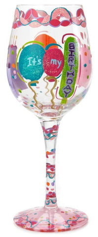 LOLITA WINE GLASS IT'S MY BIRTHDAY