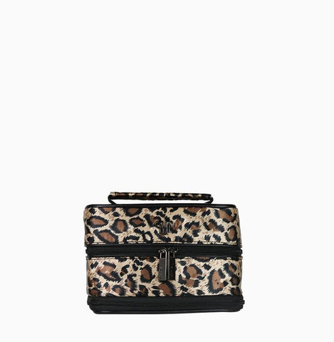 Tiara Vacationer Jewelry Case - Leopard/Black