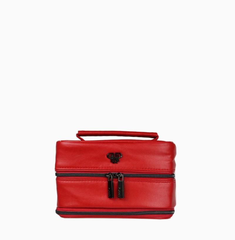 Tiara Vacationer Jewelry Case - Red/Stripe