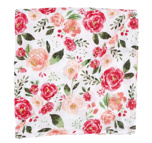 FLORAL MUSLIN SWADDLE LARGE