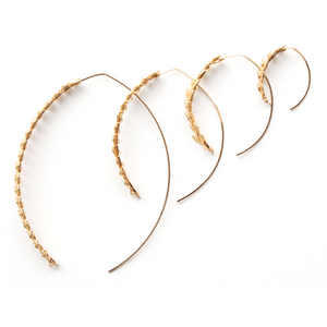 SKIN Soleil LG Fishtail Wishbone Hoop In Gold