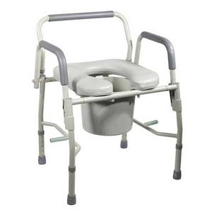 3 In 1 Steel Drop Arm Bedside Commode With Padded Seat By Drive