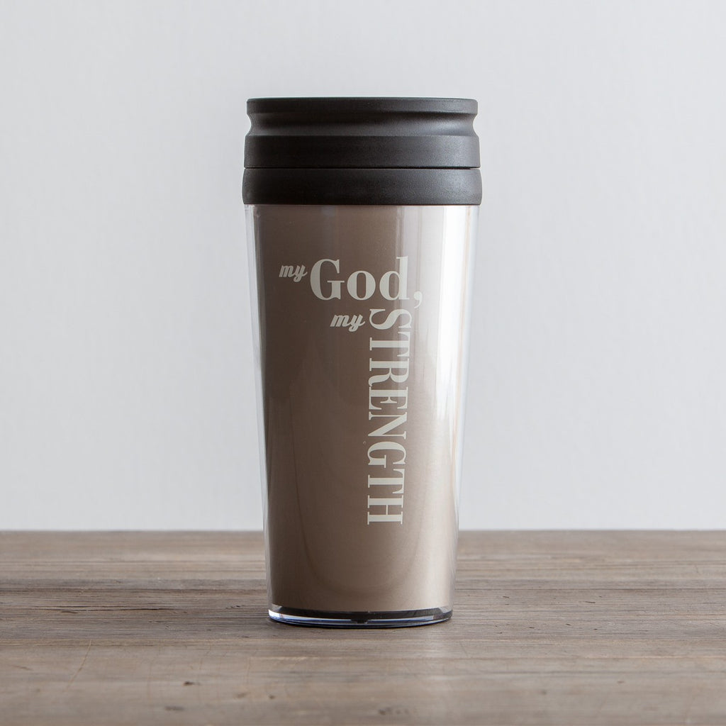 Travel Mug | God My Strength