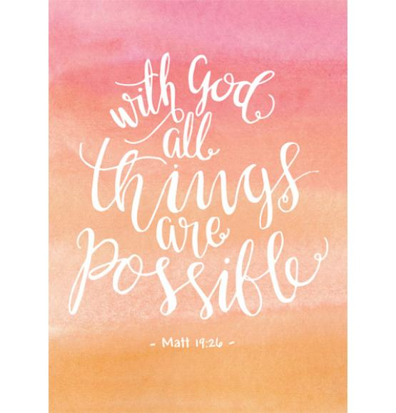 With God All Things Are Possible | Mt 19:26
