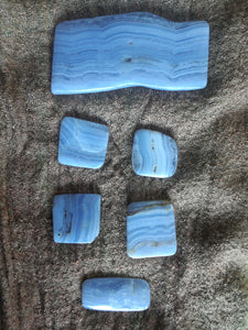 Blue Lace Agate disks