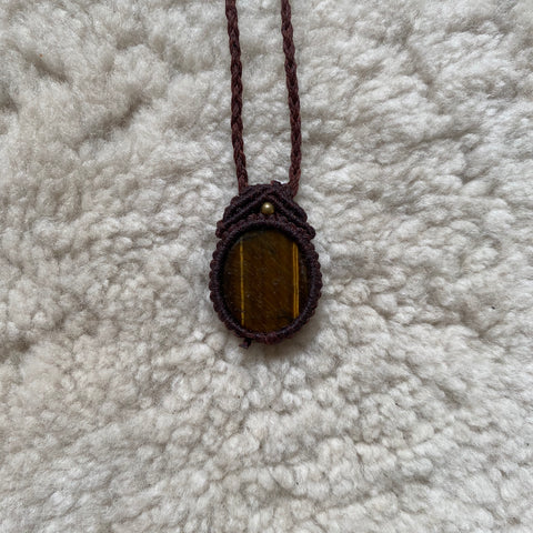 Tigers Eye Necklace (Round)