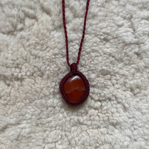 Carnelian (Strawberry) Necklace