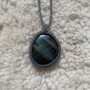 Blue Tigers Eye Necklace