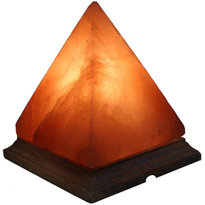 Himalayan Crystal Salt Lamp - Pyramid shape