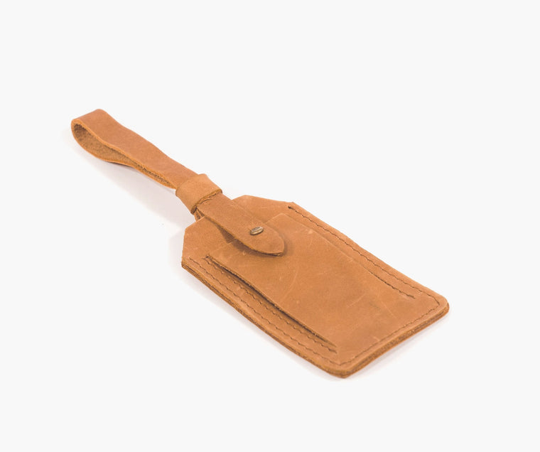 BALE LUGGAGE TAG / COGNAC