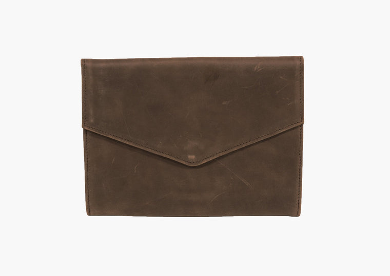 BOLE CLUTCH / IPAD CASE DARK / BROWN