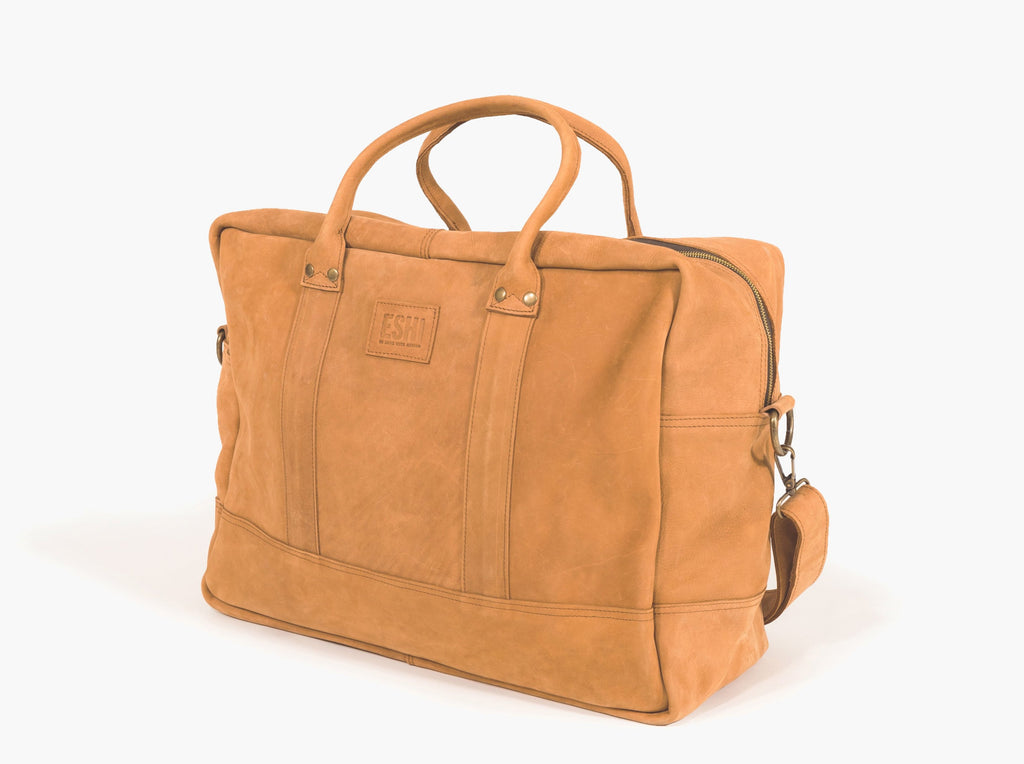 GERALTA WEEKEND BAG / COGNAC - ESHI