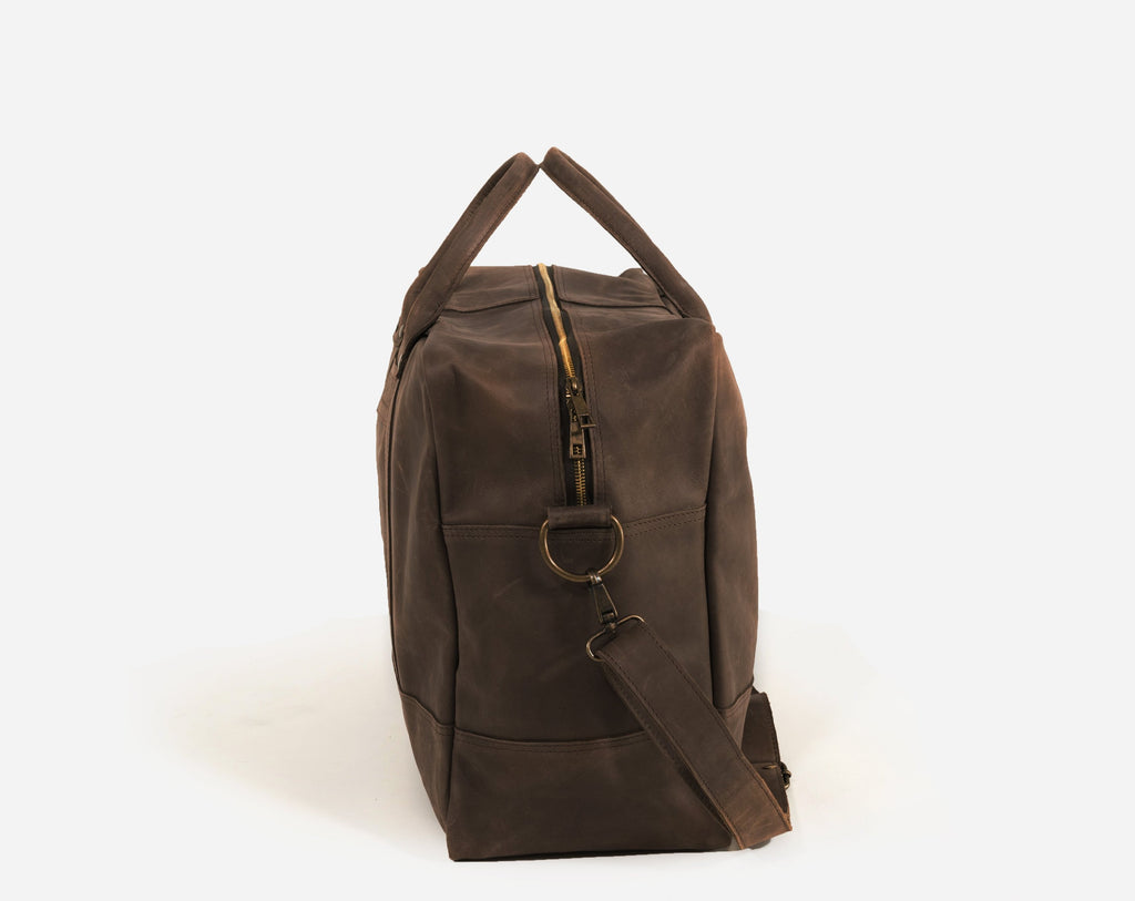 GERALTA WEEKEND BAG / DARK BROWN - ESHI