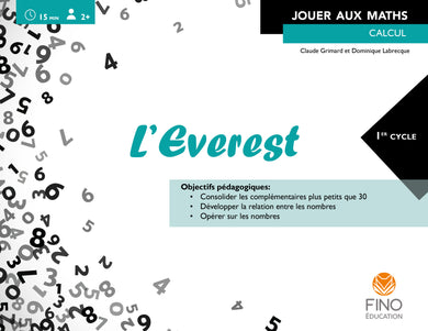 L'Everest cycles 1, 2, 3 - Collection Jouer aux maths