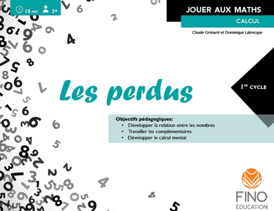 Les perdus 1er cycle - Collection Jouer aux maths