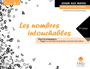 Les nombres intouchables 1er cycle - Collection Jouer aux maths