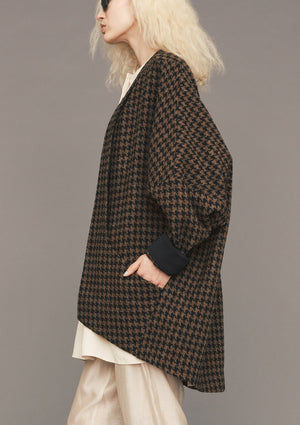 CARDIGAN - WOOL brick/black - BERENIK