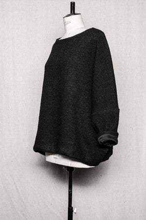 SAMPLE - SWEATER OVERSIZED FULLY LINED WITH POCKETS - wool blend black