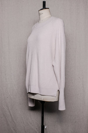 SAMPLE - SWEATER BIAS KNIT - ivory