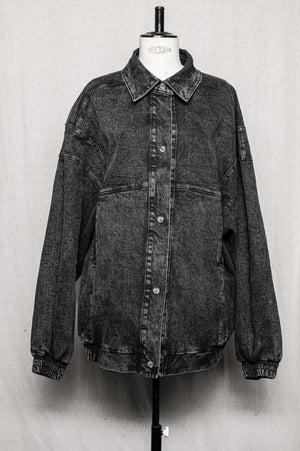 SAMPLE - OVERSIZE JACKET - denim washed black