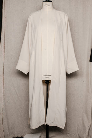 SAMPLE - CARDIGAN LONG WITH POCKETS - ivory