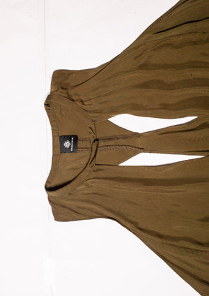 SAMPLE - TOP V-NECK - cupro khaki