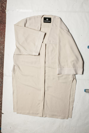 SAMPLE - BLOUSE V-COLLAR WITH POCKETS - creme