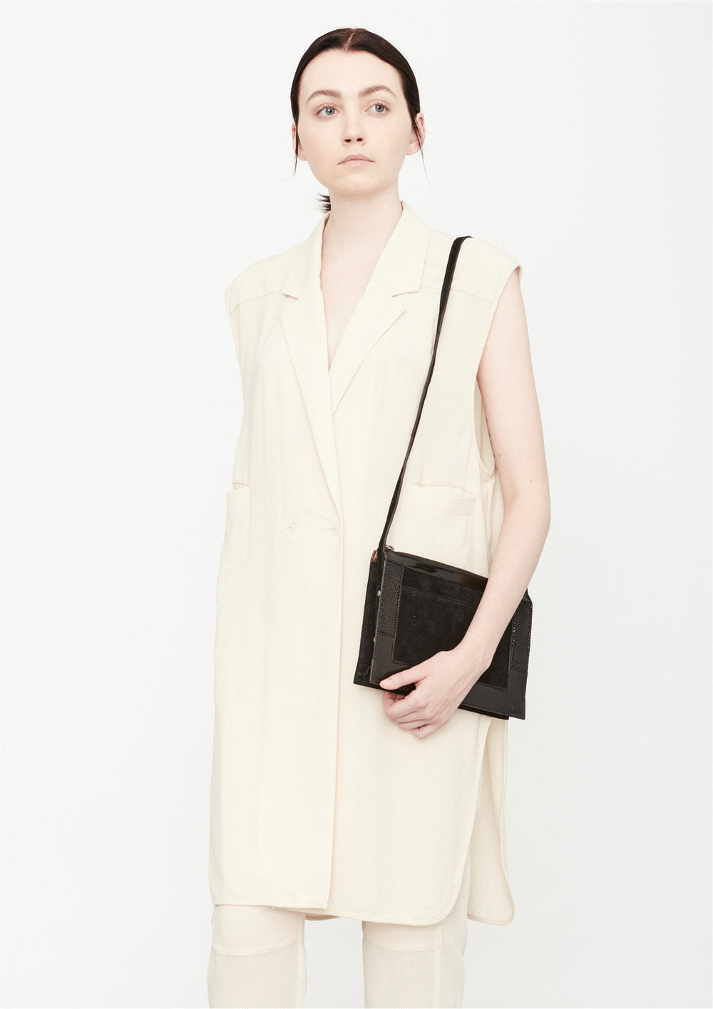 VEST LONG SLEEVELESS - creme