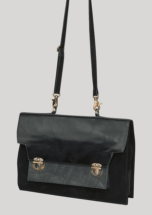 BRIEFCASE - LEATHER black