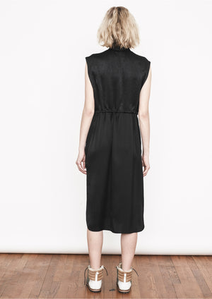 SLEEVELESS DRESS - BLACK