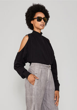 SWEATER CUT OUT - COTTON JERSEY black