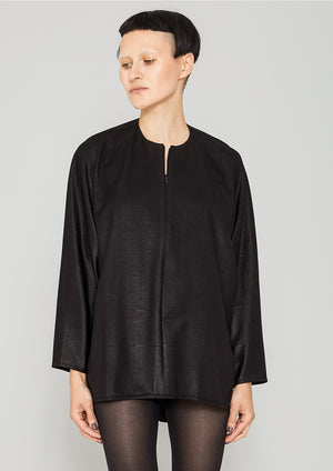 SHIRT ZIP OVERSIZED - TECH LACES STRETCH black