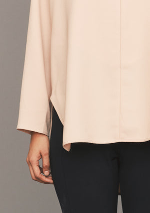 SHIRT ZIP OVERSIZED - TWILL BIAS nude