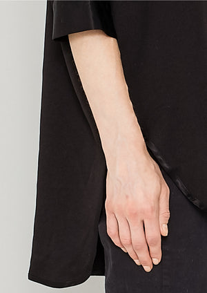 TOP OVERSIZE - HEAVY DRAPING black